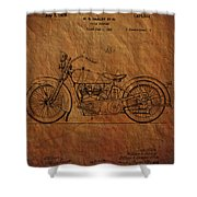Harley Davidson Patent  Shower Curtain