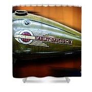 Harley-davidson Tank Logo Shower Curtain