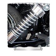 Harley Engine Close-up 2 Shower Curtain