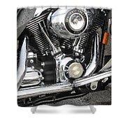 Harley Engine Close-up Rain 3 Shower Curtain