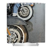Harley Line Up Rain Shower Curtain
