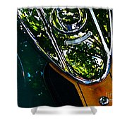 Harley Tank In Oils Shower Curtain