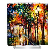 Harmony - Palette Knife Oil Painting On Canvas By Leonid Afremov Shower Curtain