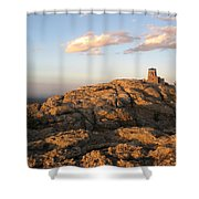 Harney Peak At Dusk Shower Curtain