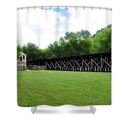Harpers Ferry Hardware And Railroad Shower Curtain