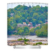 Harpers Ferry View Shower Curtain