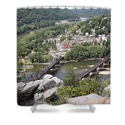 Harpers Ferry Viewed From Maryland Heights Shower Curtain