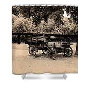 Harpers Ferry Wagon Shower Curtain