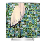 Harried Heron Shower Curtain