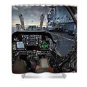 Harrier Cockpit Shower Curtain