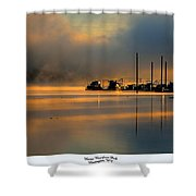 Harris Riverfront Park Shower Curtain