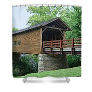 Harrisburg Covered Bridge Shower Curtain