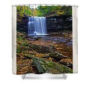Harrison Wright Falls In Autumn Shower Curtain