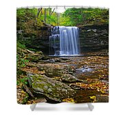 Harrison Wright Falls In Early Fall Shower Curtain