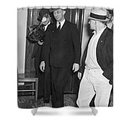 Harry Bridges Signs Pact Shower Curtain