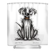 Harry The Dog Shower Curtain