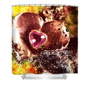 Hart Melting In Color Snow Shower Curtain
