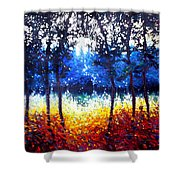 Hart Of The Magic Forest Shower Curtain