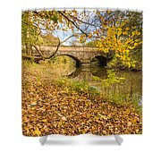 Hartford Bridge In Autumn Shower Curtain