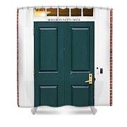 Harvard Masssachusetts Hall Door Shower Curtain