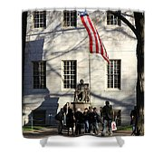 Harvard Statue Shower Curtain