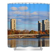Harvard Towers Over The Charles Shower Curtain