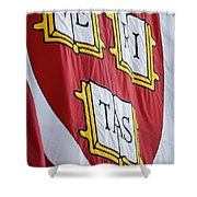 Harvard Veritas Banner Shower Curtain