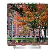 Harvard Yard Fall Colors Shower Curtain
