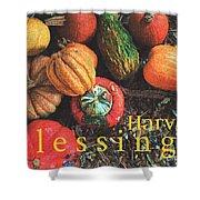 Harvest Blessings Shower Curtain