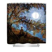 Harvest Moon Meditation Shower Curtain