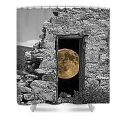 Harvest Moon Through The Magic Door Shower Curtain