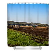 Harvest Time In Holland Marsh Ontario Shower Curtain
