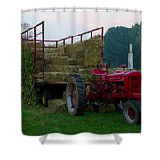 Harvest Time Tractor Shower Curtain