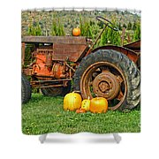 Harvest Tractor Shower Curtain