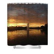 Harveston Lake Sunset Shower Curtain