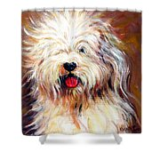 Harvey The Sheepdog Shower Curtain