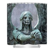 Haserot Weeping Angel Shower Curtain