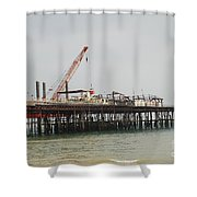 Hastings Pier Reconstruction Shower Curtain