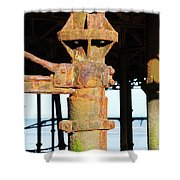 Hastings Pier Supports Shower Curtain