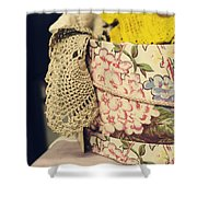 Hatbox Of Lace Shower Curtain
