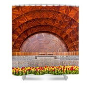 Hatch Memorial Shell Shower Curtain by Susan Cole Kelly