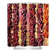 Hatch Red Chili Ristras Shower Curtain