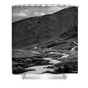 Hatcher's Pass In Black And White Shower Curtain