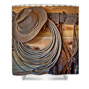 Hats And Chaps Shower Curtain