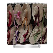 Hats In Colonial Williamsburg Shower Curtain