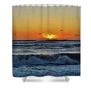 Hatteras Island Sunrise 1 11/03 Shower Curtain