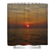 Hatteras Island Sunrise 2 8/21 Shower Curtain
