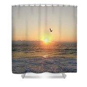 Hatteras Island Sunrise 2 8/23 Shower Curtain