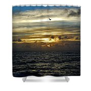 Hatteras Island Sunrise 2 9/10 Shower Curtain
