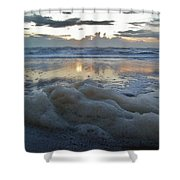Hatteras Island Sunrise 3 10/10 Shower Curtain